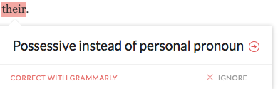 possessive-vs-personal-pronouns on Grammarly